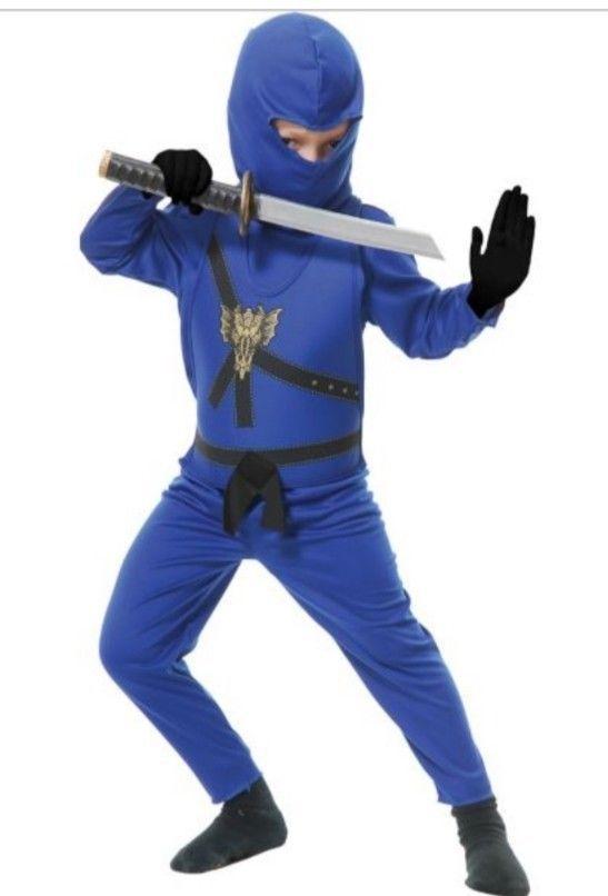 Blue Ninja Avengers Series Boys Halloween Costume Size L ( 10-12) Charades USA  sc 1 st  Pinterest & Blue Ninja Avengers Series Boys Halloween Costume Size L ( 10-12 ...
