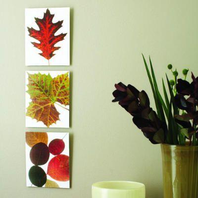 Instant leaf prints