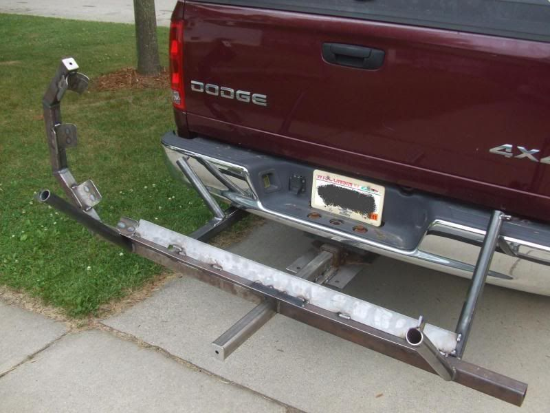 homemade motorcycle hitch carrier