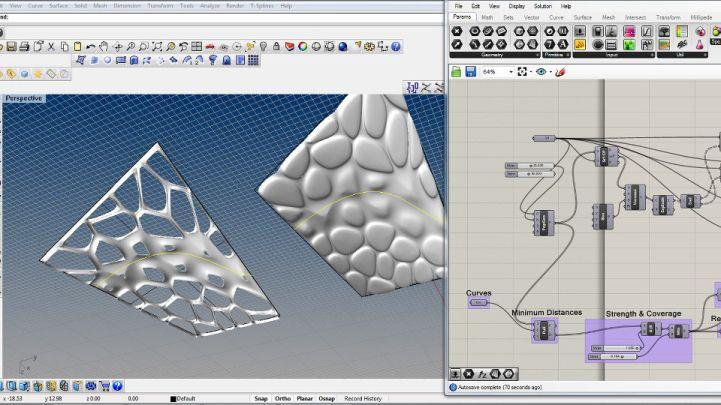 Non planar voronoi definition grasshopper product for Tuto architecte 3d