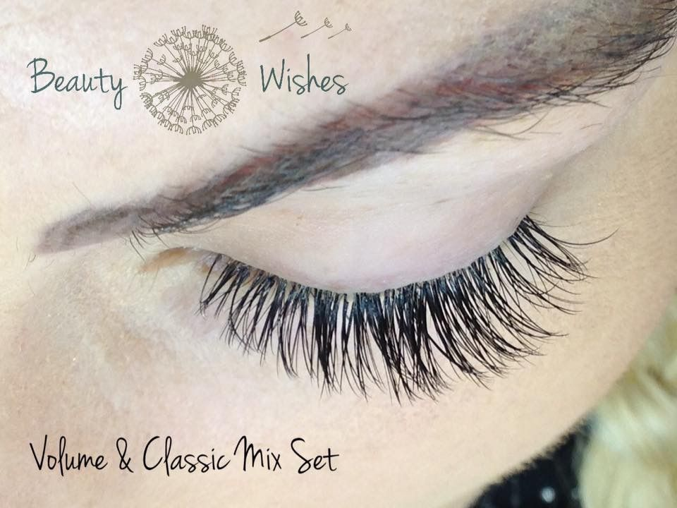 c9a89ce37b2 Volume and Classic Mix Hybrid Set of Individual Eyelash Extensions. #lashes  #lashextensions #lasheswarminster #warminster www.beautywishes.co.uk