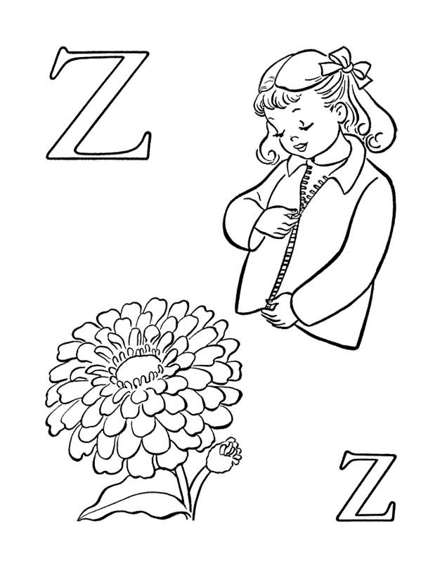 Z Is For Zipper Coloring Page Coloring Pages Coloring For Kids Color
