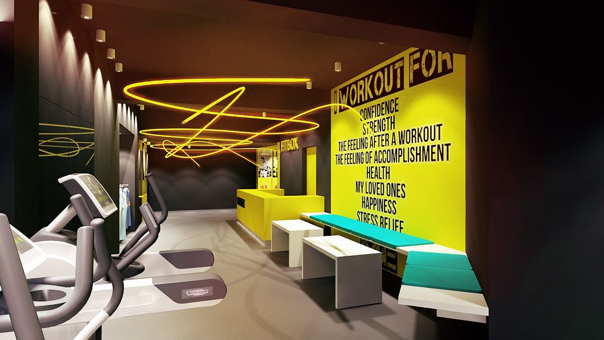Fitbox l gym on behance black door fitness club update 9 for Gimnasio fitness studio