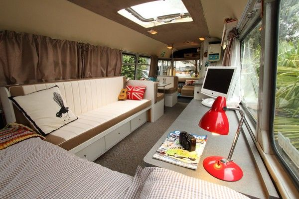 Bedford Bus To Tiny House Conversion My Favorite Thus Far I Think Sort Of Slightly Retro Functional Just Made That Up