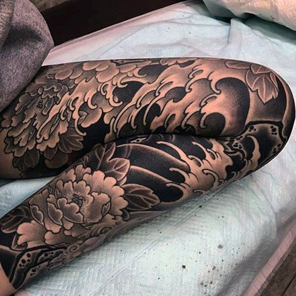 Top 89 Knee Tattoo Ideas 2020 Inspiration Guide Leg Sleeve Tattoo Knee Tattoo Japanese Leg Tattoo