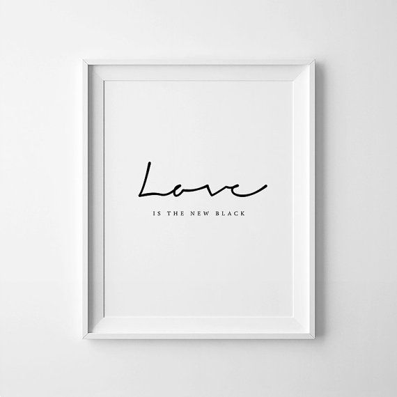 Arte de la tipografía el amor es el nuevo por printabold en Etsy