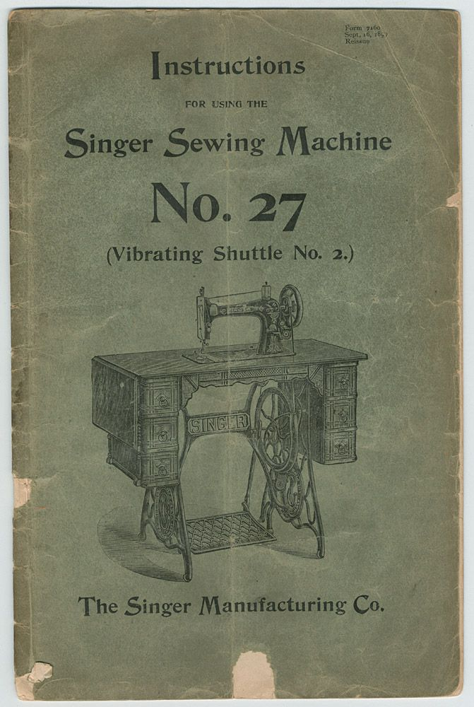 Photos Here Of Instruction Manual For Singer No 40 Vs40 Vintage Adorable Singer Sewing Machine Manuals Free Online