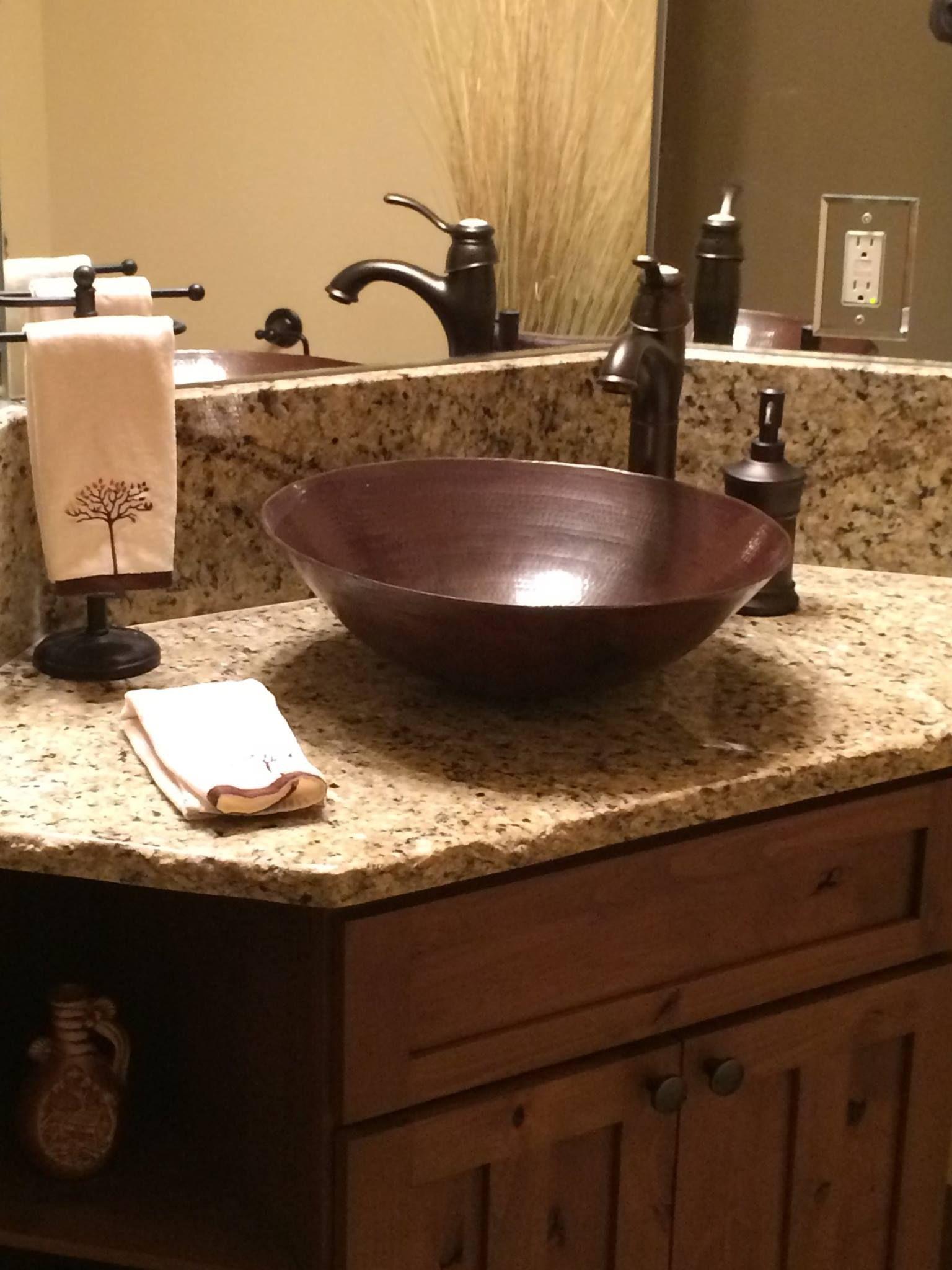 Beautiful copper vessel sink. Antique finish! … Copper