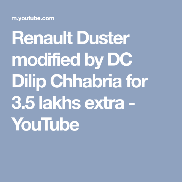 Photo of Renault Duster modified by DC Dilip Chhabria for 3.5 lakhs extra