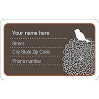 Free Avery  Templates  Luggage Tag With Bird On Id Badge  Per