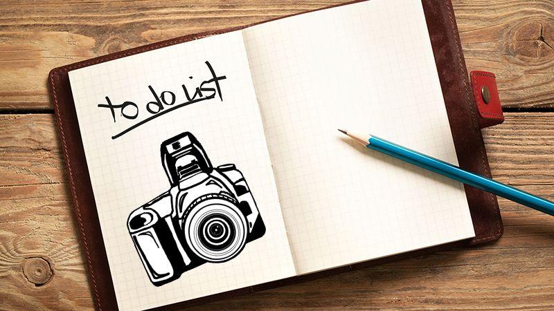 Questo promemoria fotografico vi aiuterà ad evitare i più banali errori che si commettono le prime volte qualdo si esce di casa con la macchina fotografica.