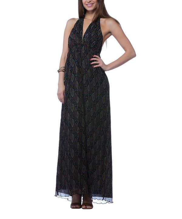 Look at this Young Threads Black & Pink Abstract Halter Dress on #zulily today!