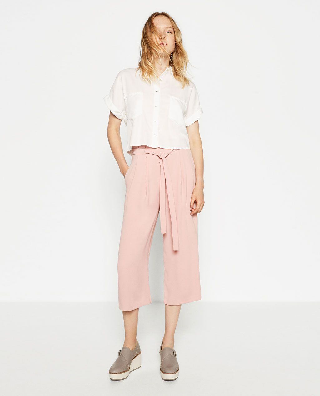 133d7243 Image 1 of CULOTTES from Zara | I spy style... in 2019 | Culottes ...