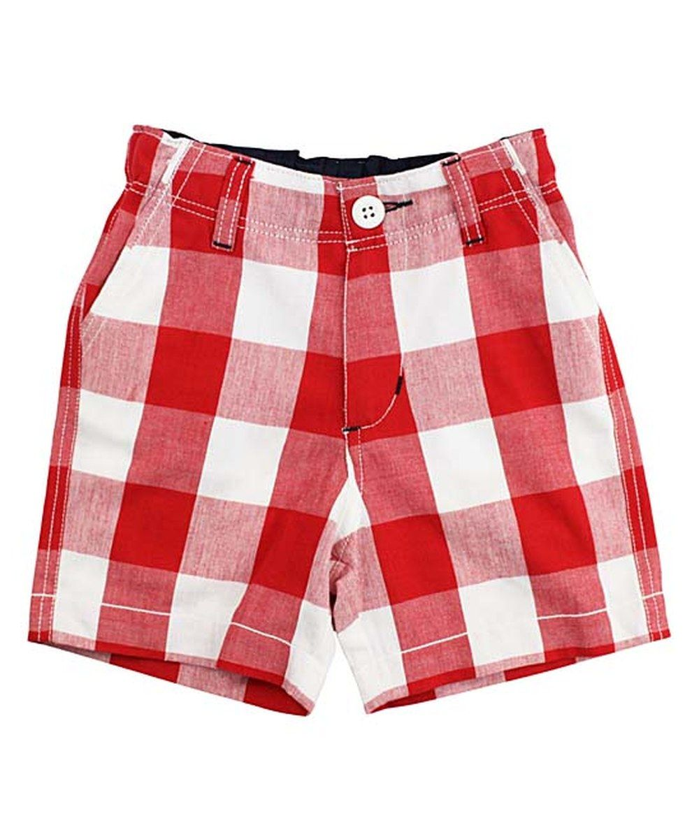RuggedButts Red & White Plaid Shorts - Infant & Kids | Plaid ...