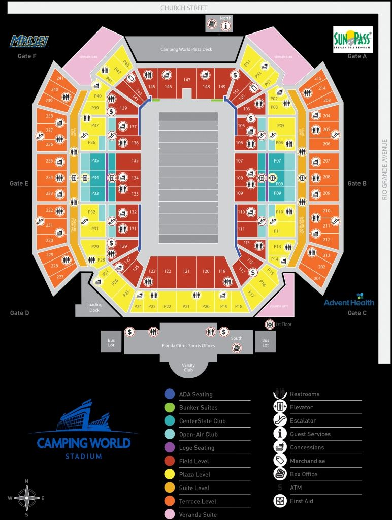 The Most Stylish As Well As Gorgeous Orange Bowl Camping World Stadium Seating Charts Camping World Bowl