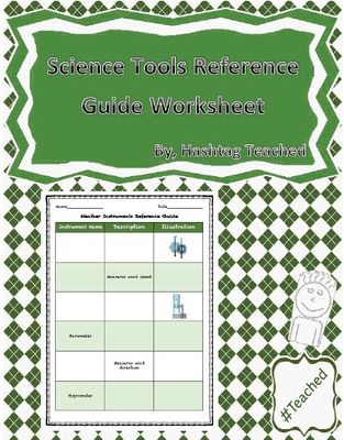 Weather Instruments Reference Guide Worksheet From Hashtagteached