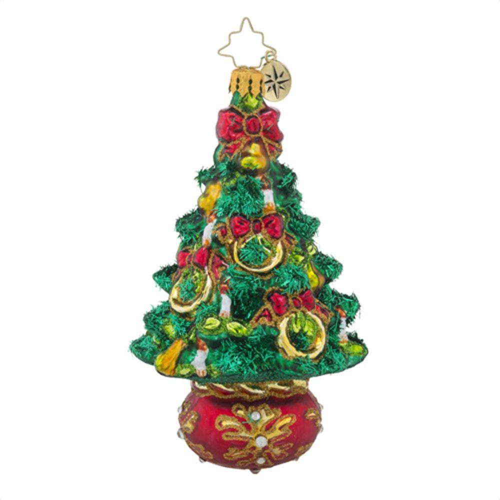 Christopher Radko Ornaments | Radko Five Golden Rings Trees Christmas Ornament