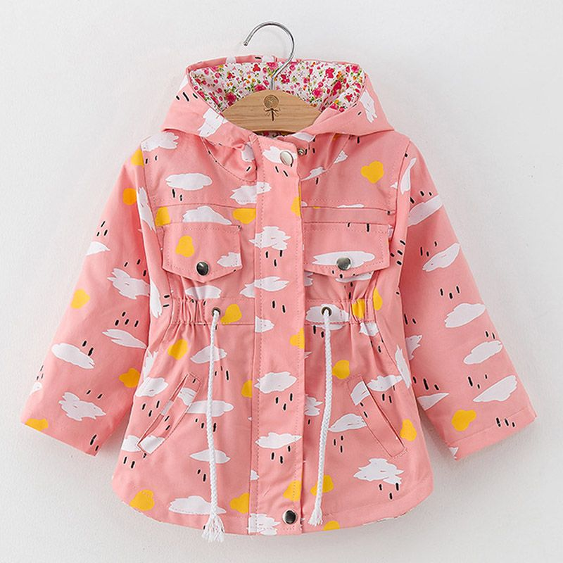 38949f97aa03 LZH Baby Girls Jacket 2019 Autumn Spring Jacket For Girls Trench ...