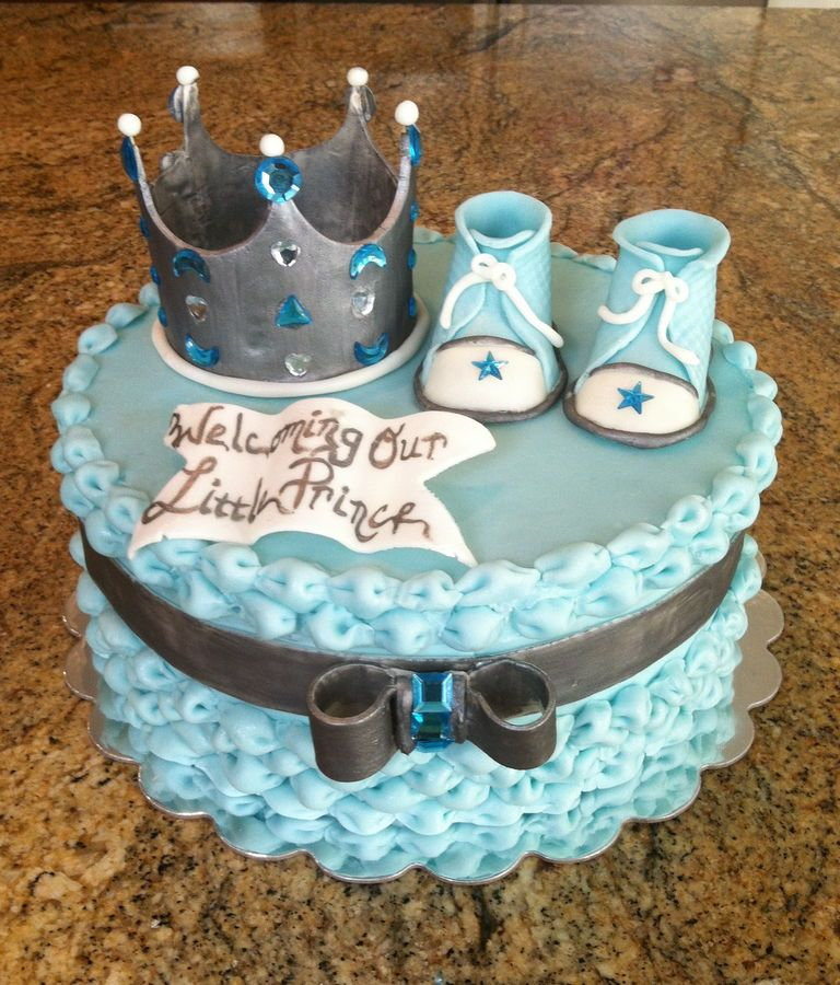 Cake With Crown For Boy : royal crown baby shower cakes Photos tagged ?Baby Shower ...