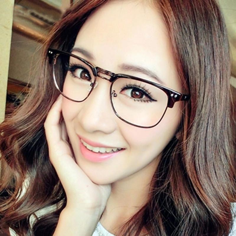 1b8af7fe4fb1 Fashion Metal Half Frame Glasses Frame Retro Woman Men Reading Glass UV  Protection Clear Lens Computer Eyewear Eyeglasses. Yesterday's price: US  $6.26 (5.43 ...