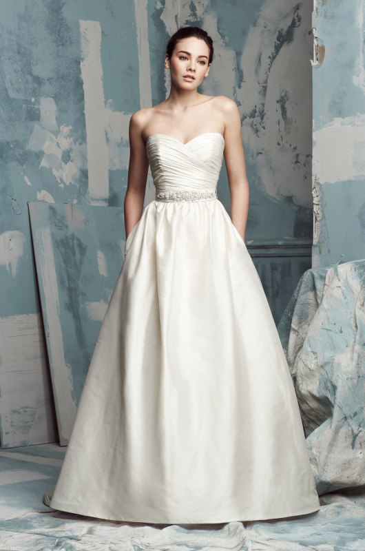 Gorgeous Paloma Blanca gown with pockets | Wedding Dress Styles and ...