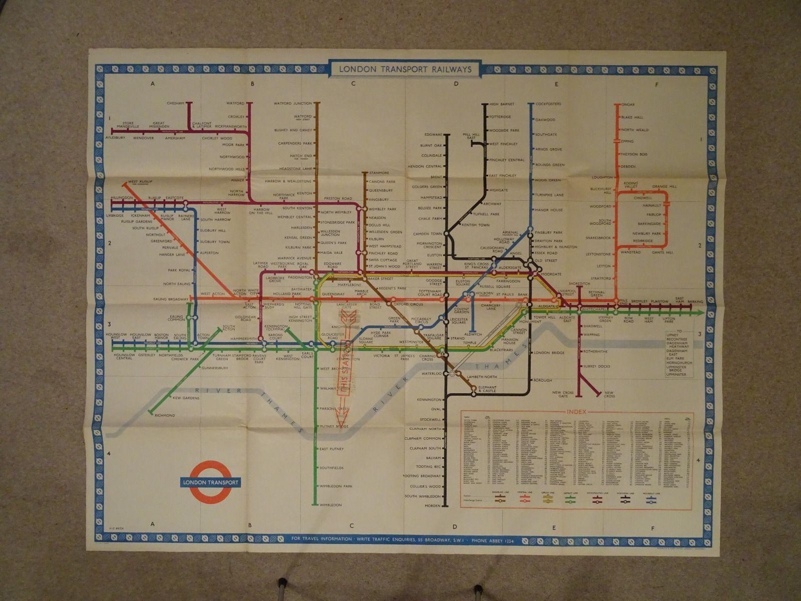 Mapa London%0A London Underground platform map from