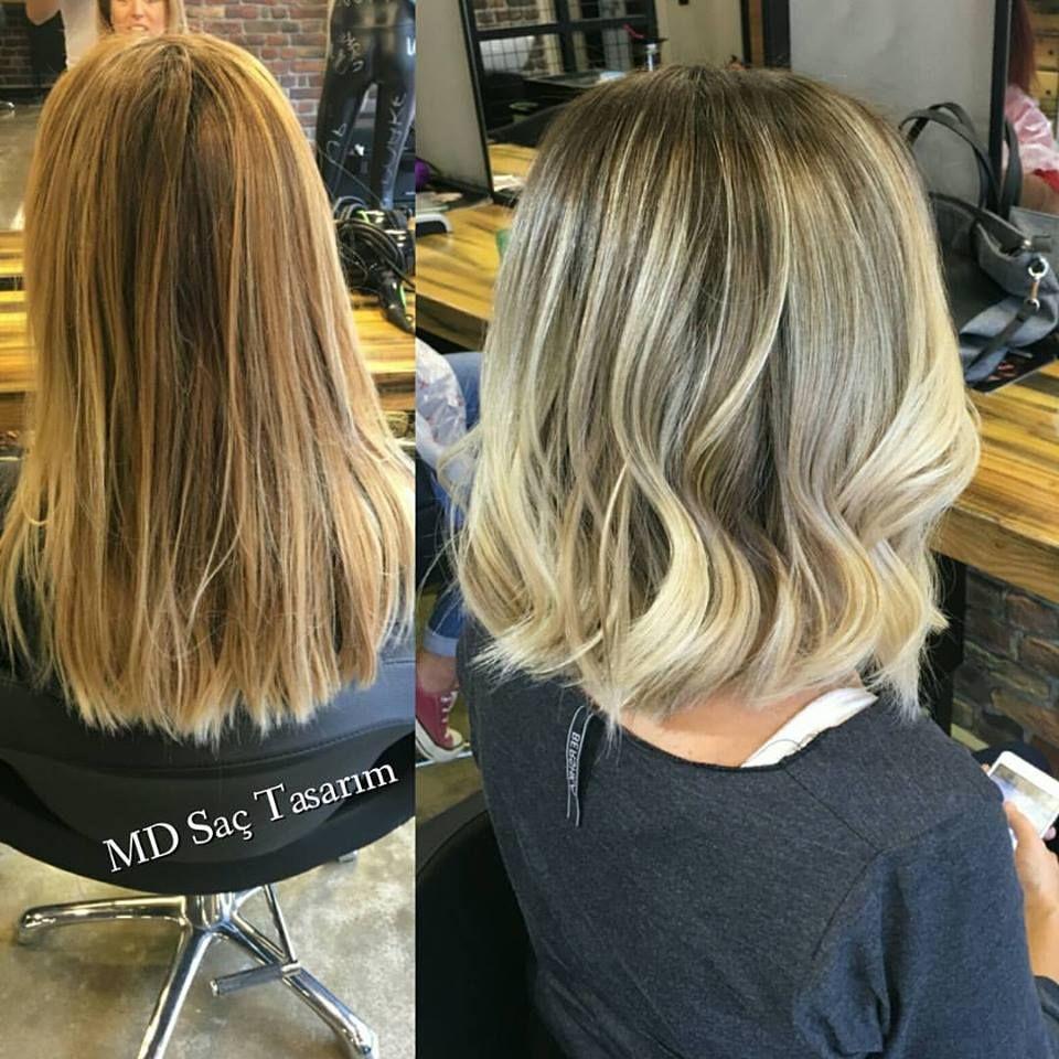 Sicak Sarilardan Soguk Sarilara Gecis Hair Sac Balyaj Sacmodelleri Balyajmodelleri Blonde Kuafor