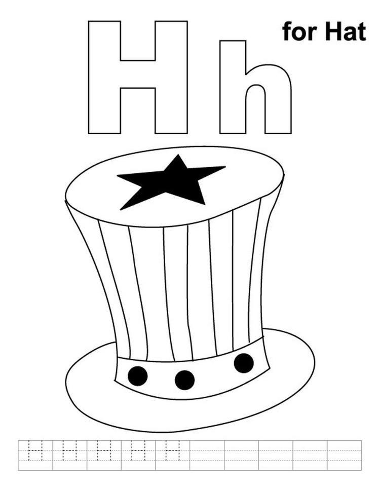 Alphabet Coloring Page H For Hat Alphabet Coloring Pages Alphabet Coloring Lego Coloring Pages