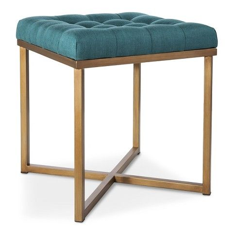 Love This Shade Of Blue Gold Bench Seat At Target