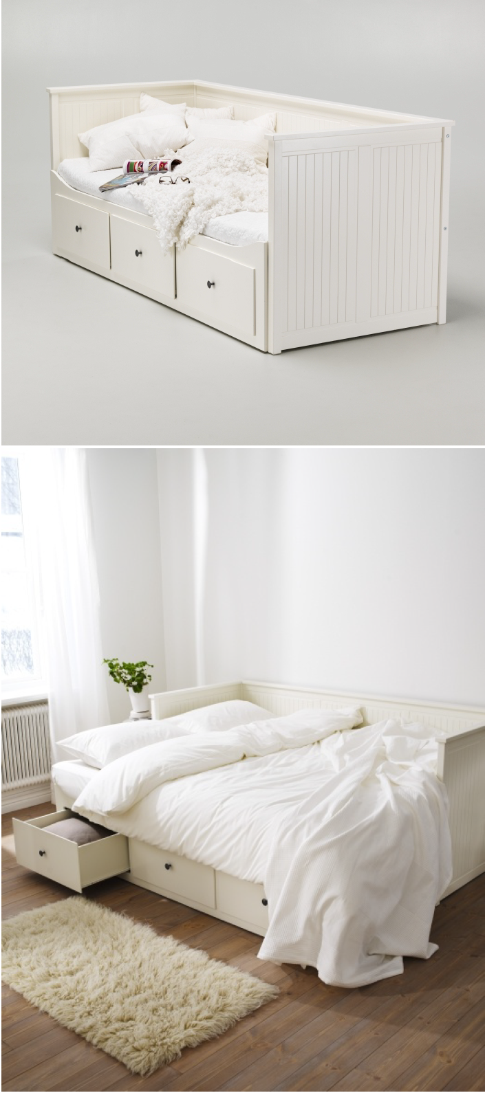 Daybed with pop up trundle ikea create a welcoming bedroom away from home for guests with the hemnes