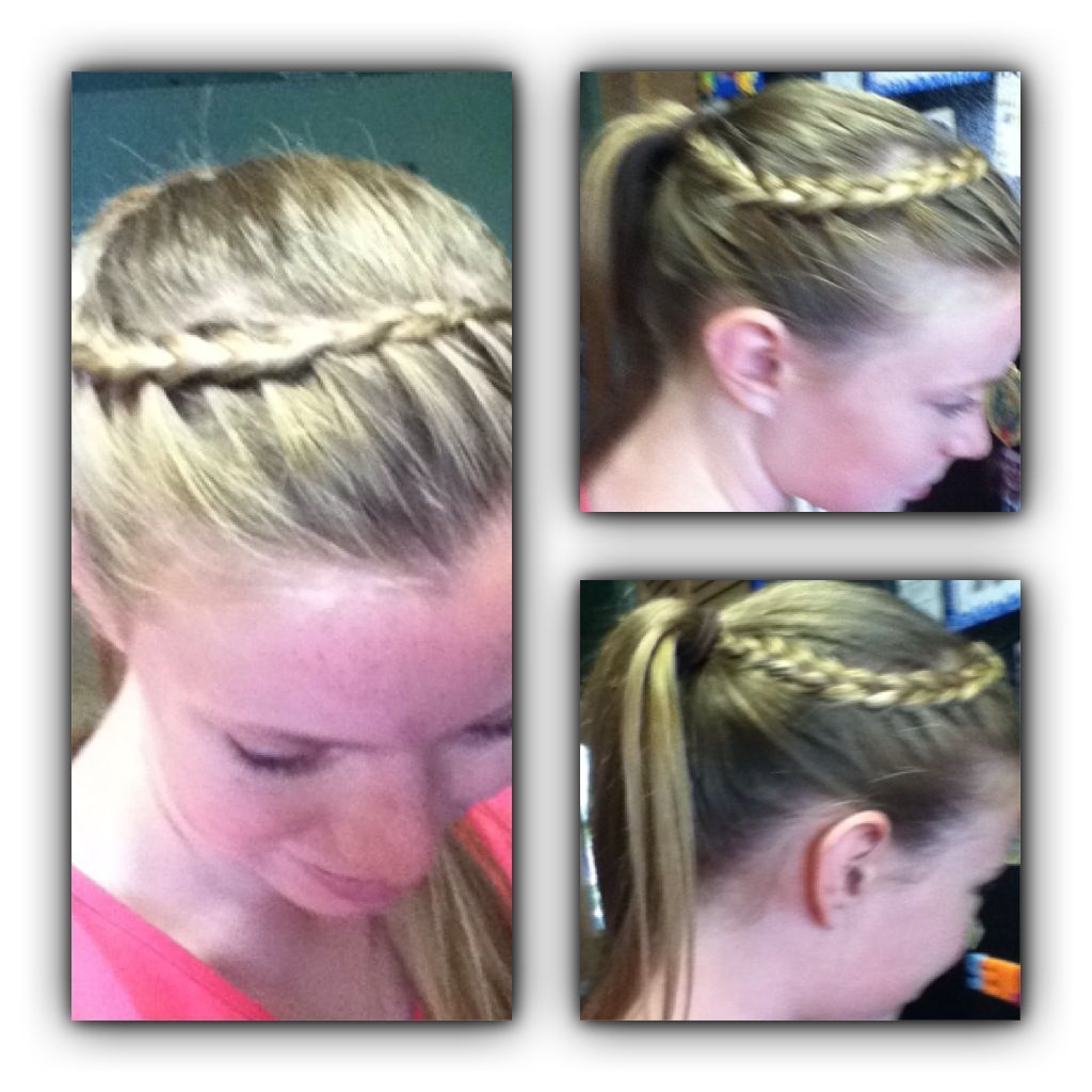 Beautiful Dutch Lace Crown Braid Into Ponytail Braided Ponytail
