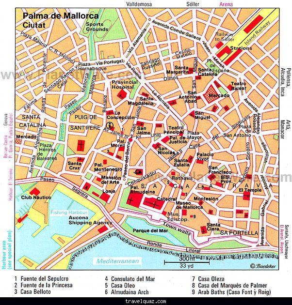 nice Palma de Mallorca Map Travelquaz Pinterest Balearic