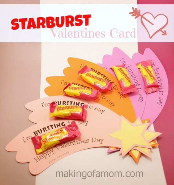 Starburst Valentines Day Card – Cute Kids Valentines Cards