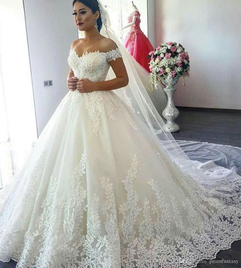 Luxury lace ball gown long sleeve wedding dresses u a girl can