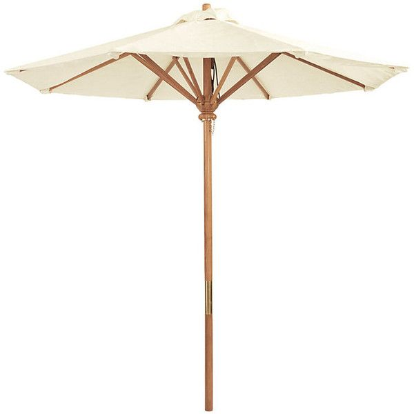 Ballard Designs Teak 8u0027 Patio Umbrella Natural ($1,149) ❤ Liked On Polyvore  Featuring