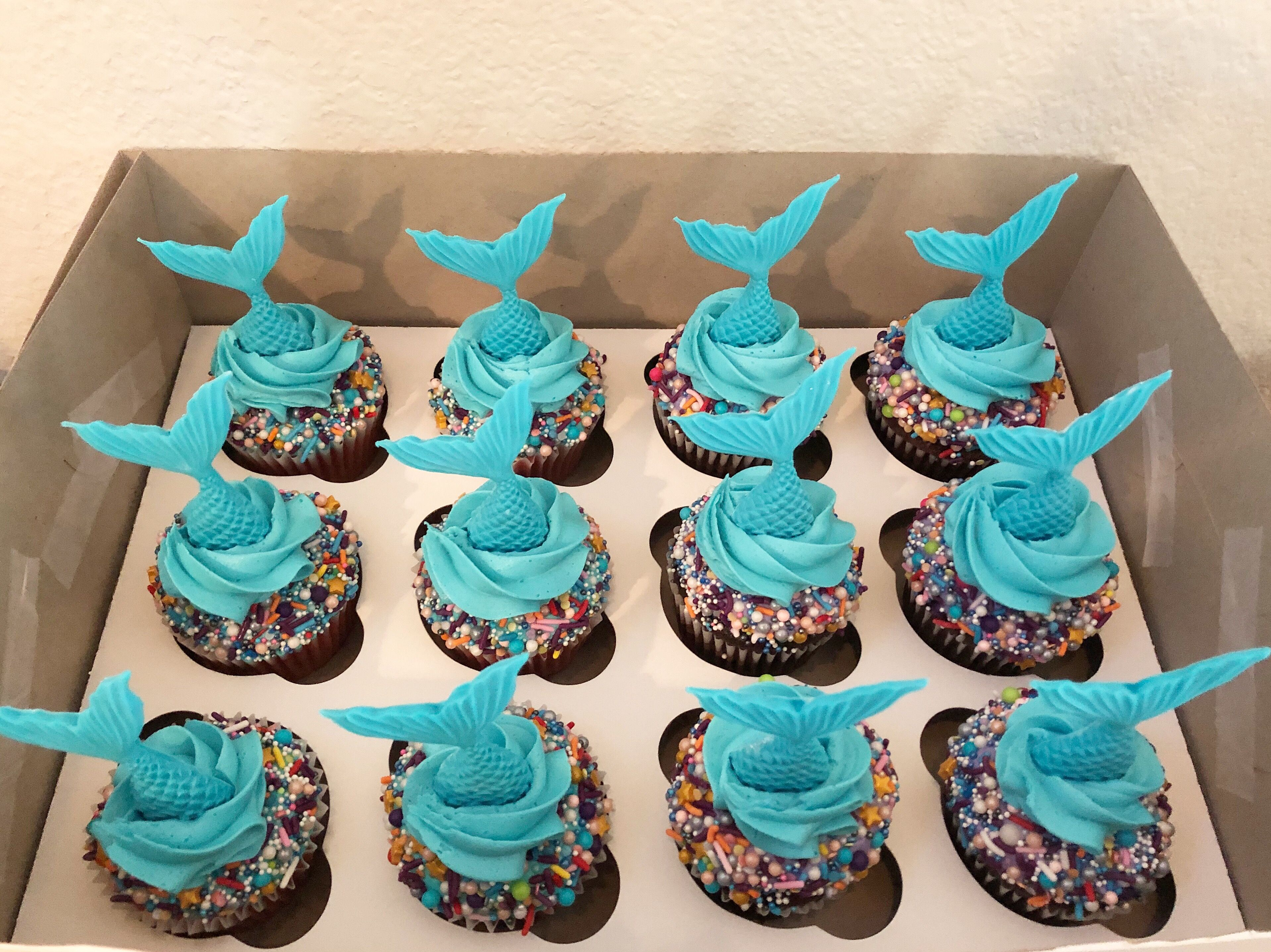 mermaid cupcake design Mermaid cupcakes  Cupcake ideen geburtstag