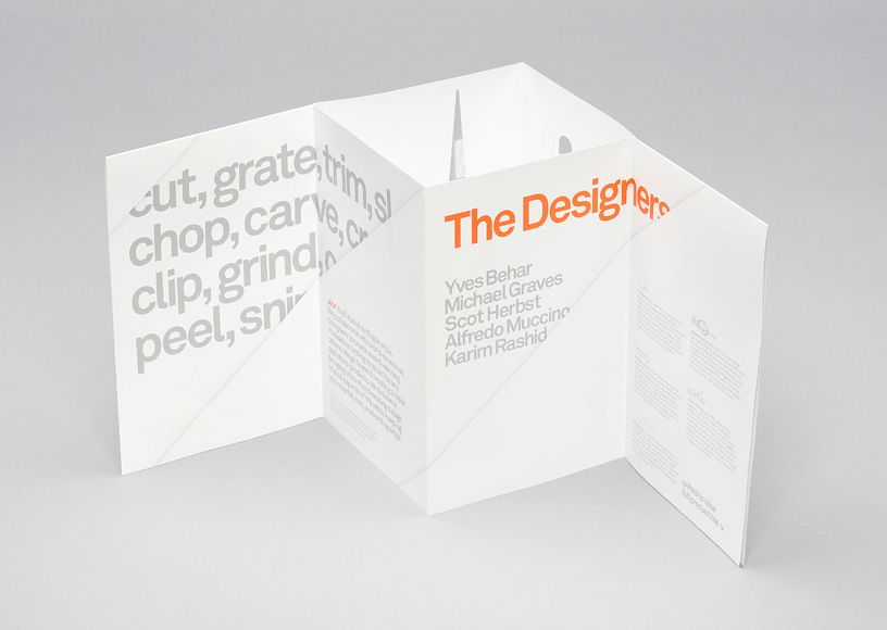 The angled slice was further employed as a distinctive - product brochures