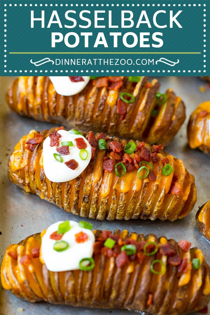 Hasselback Potatoes Recipe - Dinner at the Zoo