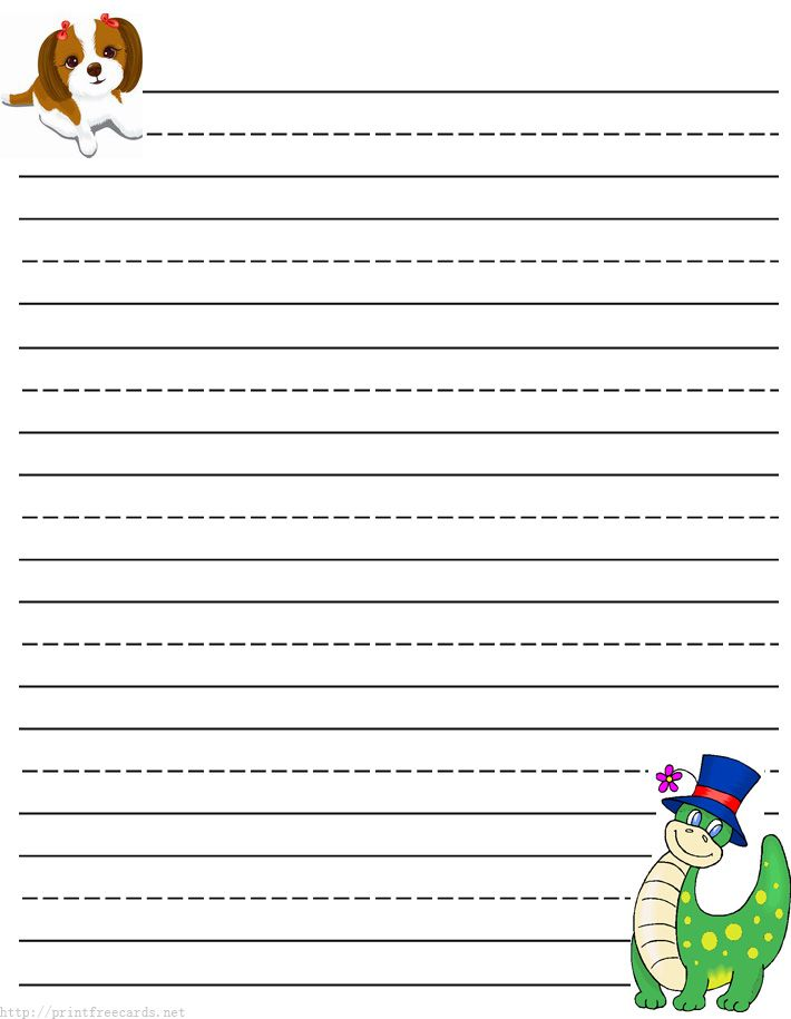 Dragon Free Printable Stationery For Kids, Primary Lined Dragon Theme Free  Printable Kids Writing Paper  Free Printable Writing Paper