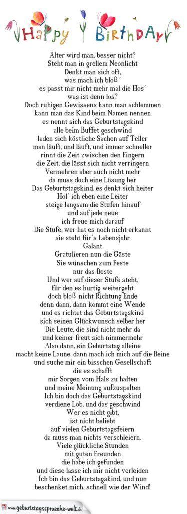 Geburtstag Gedicht Alter Wird Man Besser Nicht Gedichte