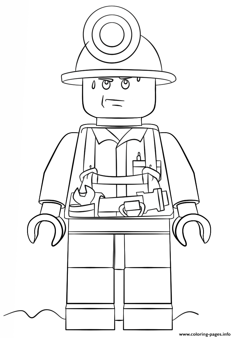 Lego Miner City coloring pages | Lego coloring, Lego ...