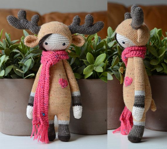 Crochet Pattern Deer Lisa Lalylala Modification by MyKrissieDolls