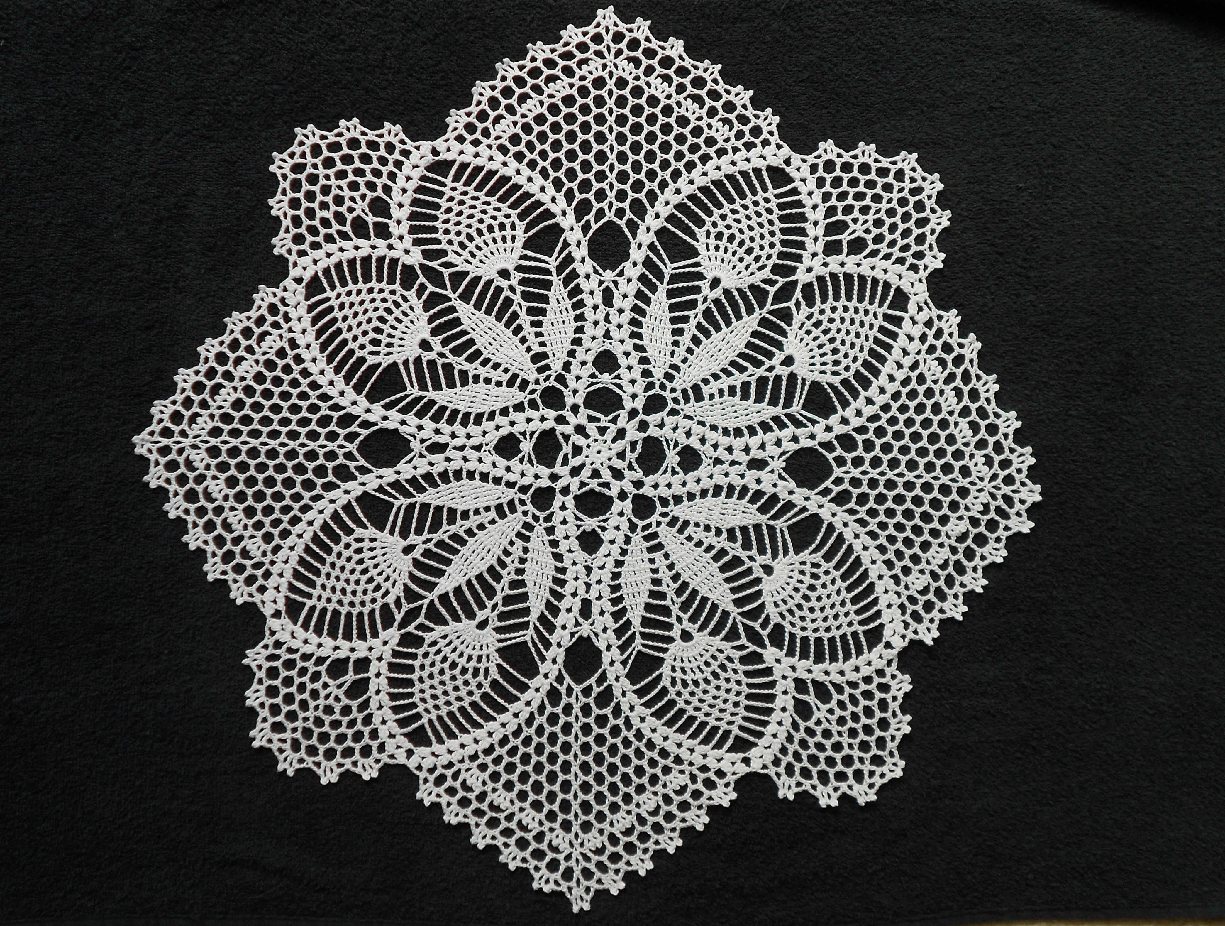Handmade crochet cotton doily with pineapple shape details flowers handmade crochet cotton doily with pineapple shape details flowers 205 bankloansurffo Image collections