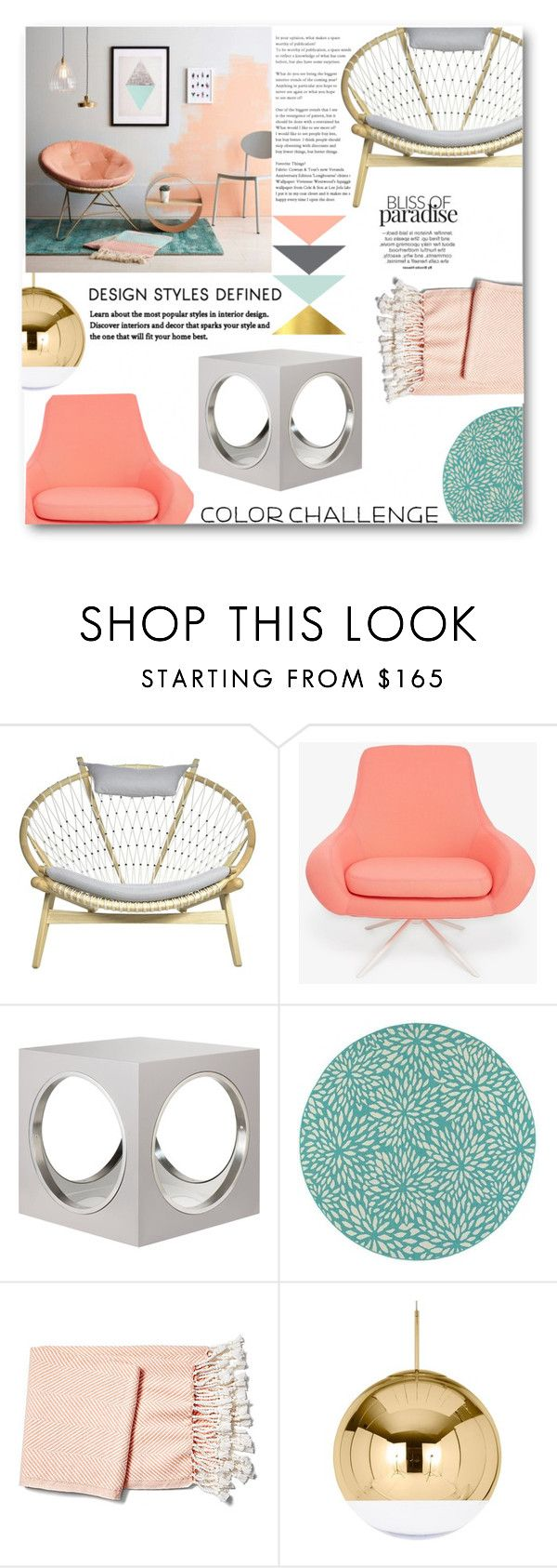 """""""Color Challenge:Gray & Peach"""" by elegal32 ❤ liked on Polyvore featuring interior, interiors, interior design, home, home decor, interior decorating, Softline, The Lacquer Company, Home Decorators Collection and Brahms Mount"""