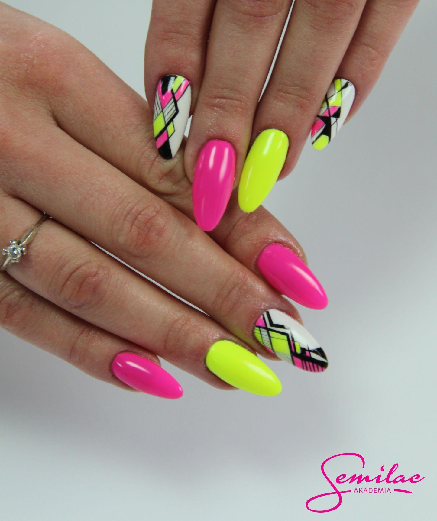neonnails #summer #longnails #artnails | Zdobnictwo/ Nail Art Design ...