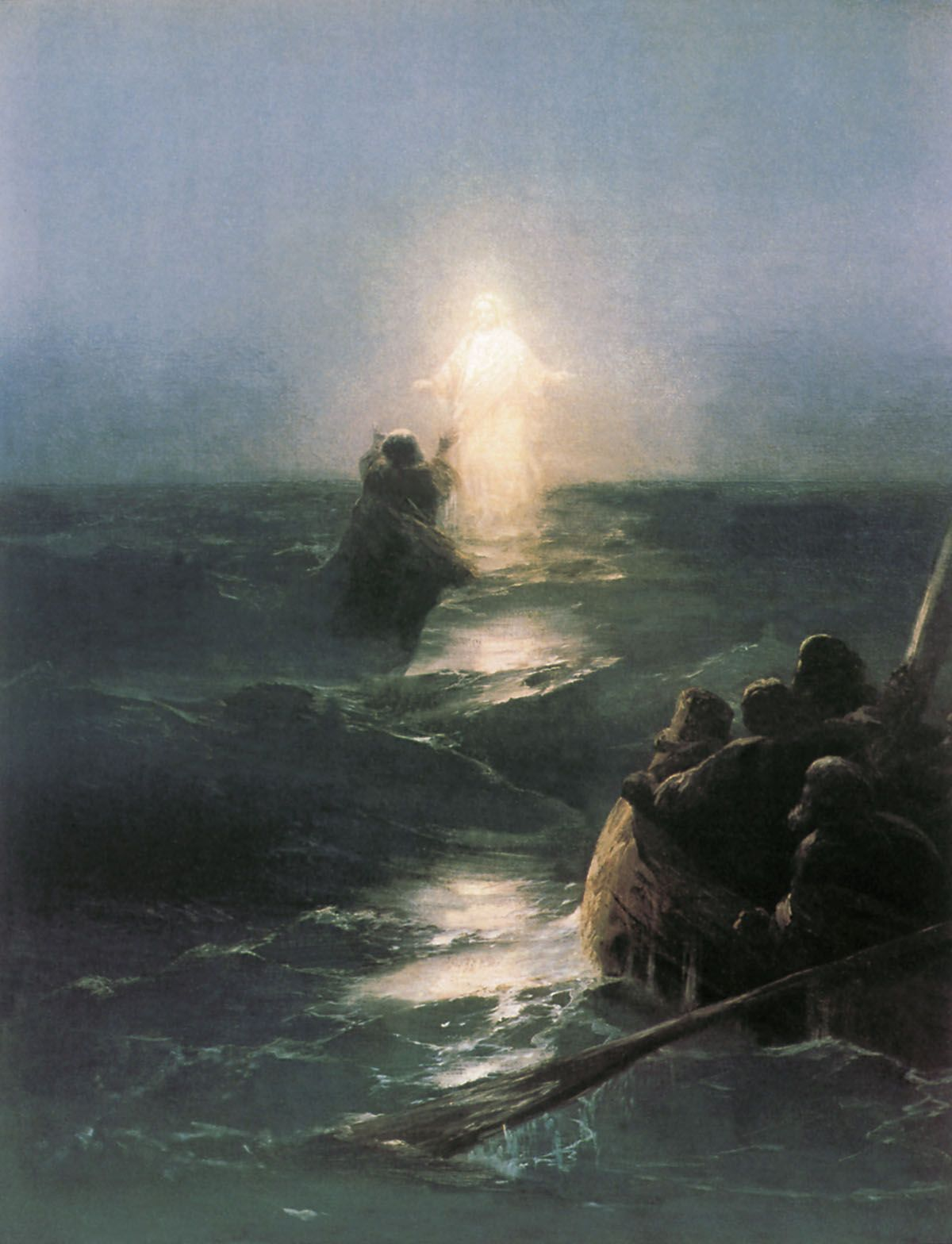 Image result for Jesus walks on water, by Ivan Aivazovsky (1888), picture