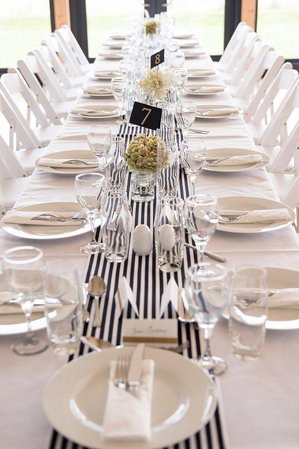 Stylish Modern Monochrome Diy Village Hall Wedding Wedding