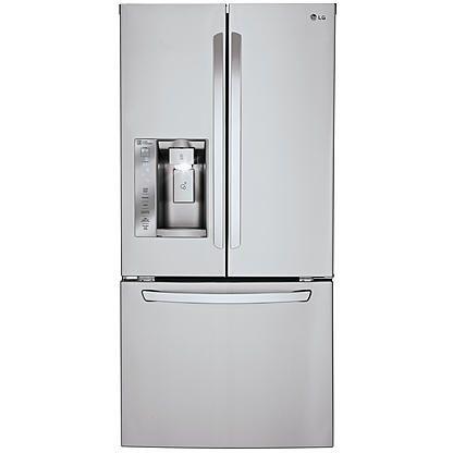 Lg 24 Cu Ft Capacity French Door Refrigerator W Ice Water