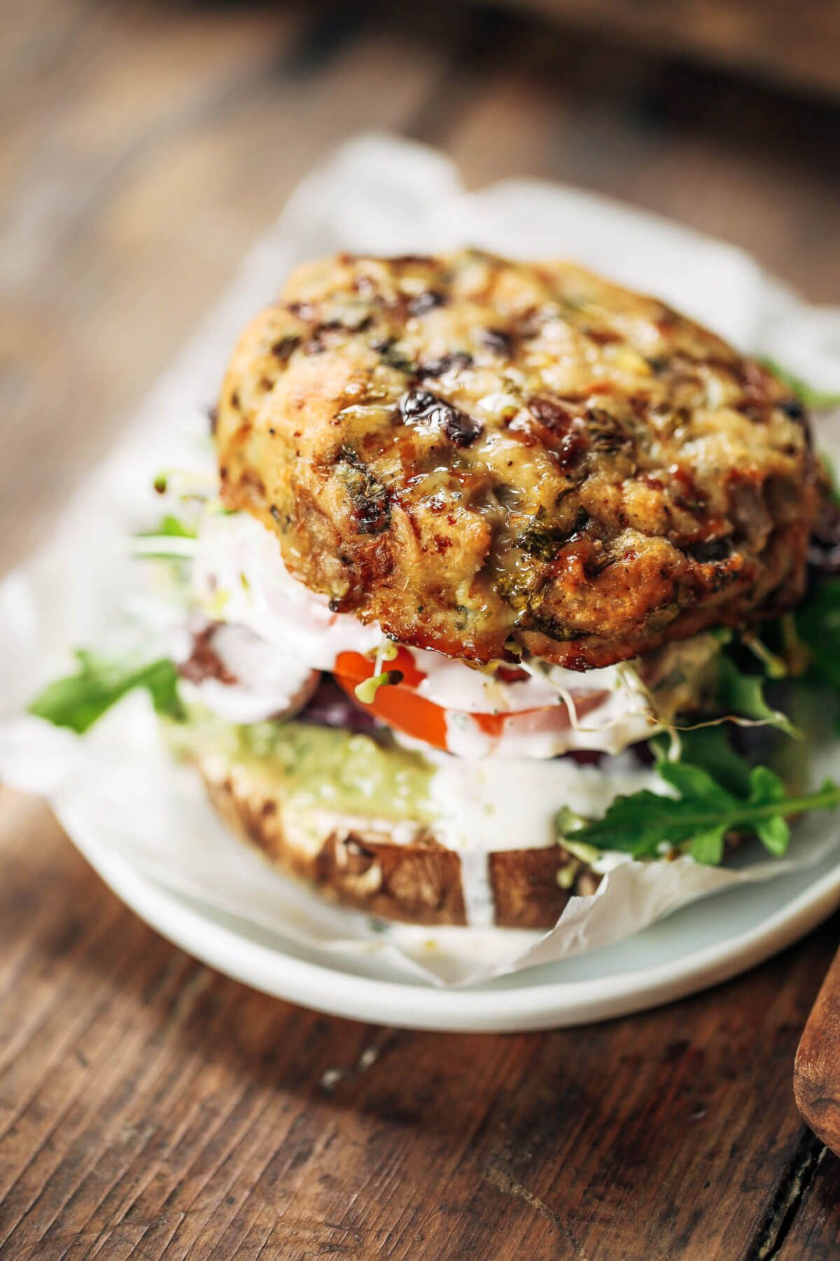 Whole30 Greek Turkey Burgers With Mint Avocado Sauce Recipe In