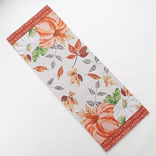 Amazing Harvest Season Pumpkin Tapestry Table Runner  X